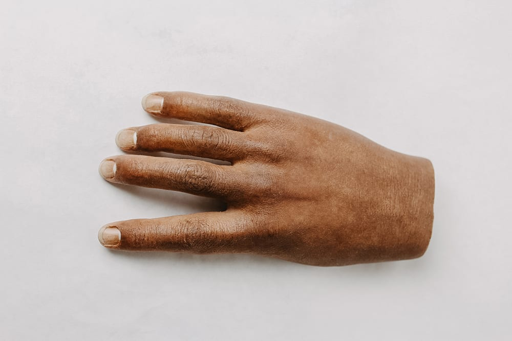 realistic silicon hand