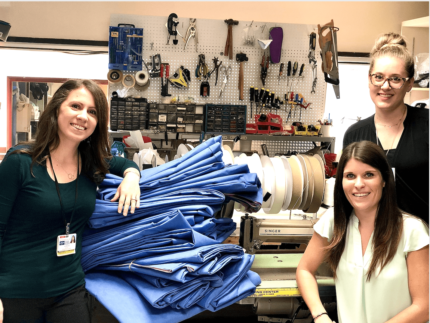 WCBL practitioners make sleeping bags for the homeless
