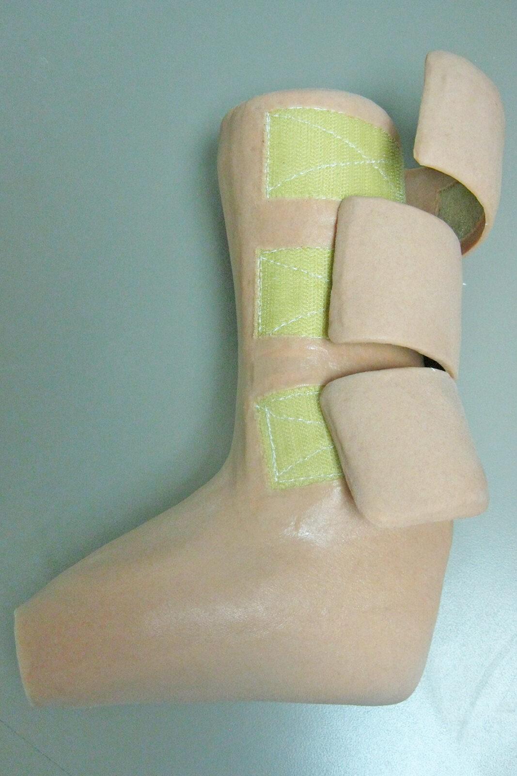 Silicone AFO Velcro Straps side open